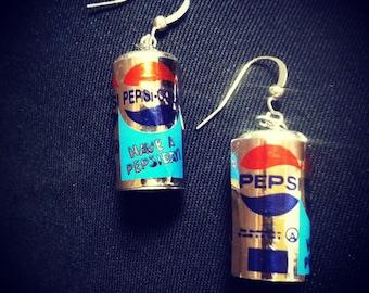 Mini Soda Can Earrings