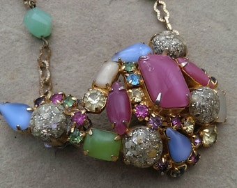 Handmade Vintage Brooch Necklace