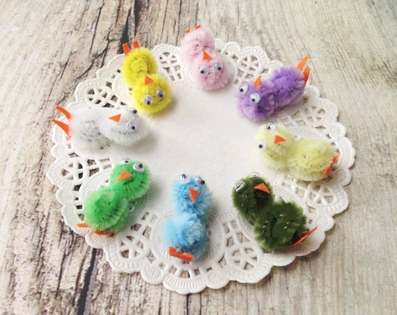 Colorful Birds Accessories Craft Kit Make your own Magnet Charm Brooch Pins Snap Clips Phone Dust Plug Spring Pastel Colors Bright Colors