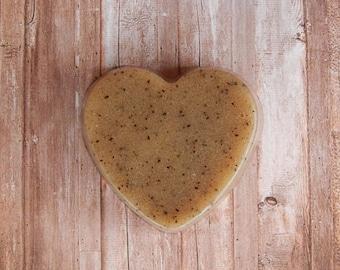 Heart Coffee Sugar Scrub - Coffee Scrub - Gift For Him - Gift For Her - Coffee Gift