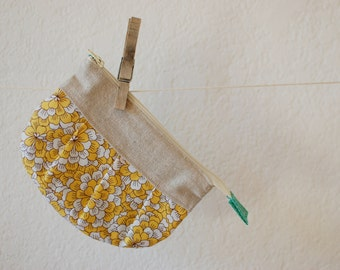 Zippered Pouch Made with Vintage Fabrics