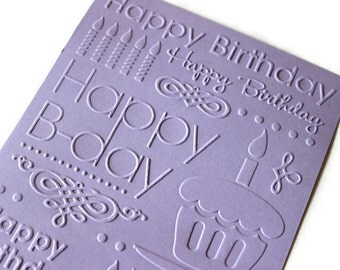 Embossed cardstock - Happy Birthday (5 X 7 in.)