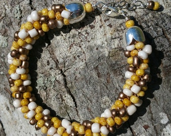 Handmade Beautiful Kumihimo Earth Tone Bracelet