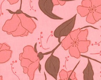 01902 - Free Spirit Valori Wells Olive Rose Little Roses in pink - 1 yard