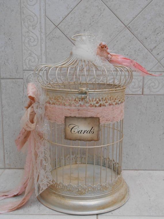 Birdcage Wedding Card Holder Shabby Birdcage Vintage