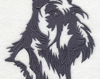 Scottish Terrier Embroidered Flour Sack Hand/Dish Towel