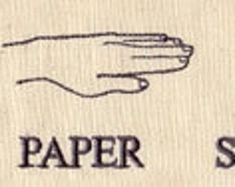 Rock Paper Scissors Hands Embroidered Flour Sack Hand/Dish Towel