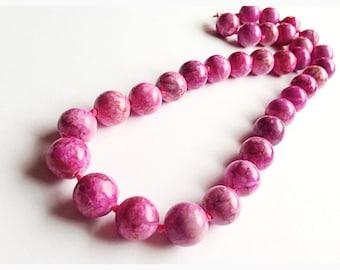 """Genuine Kunzite gemstone necklace // pink Kunzite // 18""""L"""