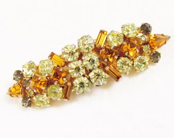 SALE Vintage Juliana Brooch Duet Dress Clips Citrine