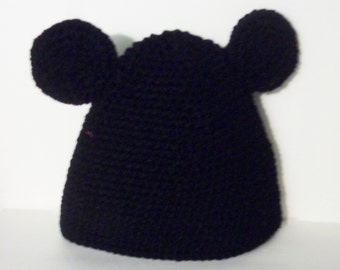 Crochet Mickey Mouse hat  Toddlers to 10 years old