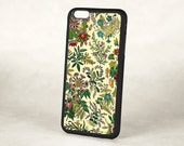 Floral iPhone 5 Case, Victorian iPhone 6 case, Floral Spring Garden, Protective Silicone Rubber Retro iPhone 5 Cover, iPhone 6 Plus