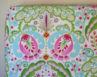 Baby Girl Crib Bedding, Fitted Crib Sheet, Boho Baby Nursery Bedding, Fitted Sheet, Kumari Garden Crib Sheet