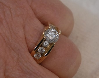 1.46tcw - White Sapphire Engagement or Wedding Ring