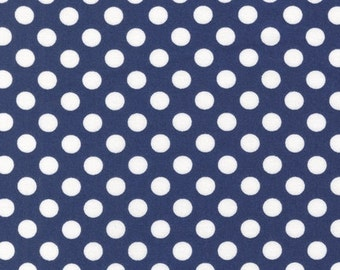 SALE - Fitted Crib Sheet You Choose - Spot On Navy Dots