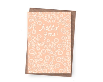 SALE Hello You Greeting Card