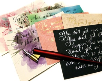 Custom Calligraphy Quote - up to 45 words