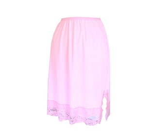 Slip Skirt Pink Lace Size Small