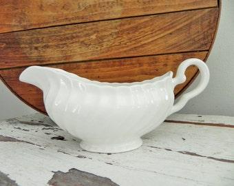 English Ironstone Gravy Bowl - Farmhouse-  English Cottage Style