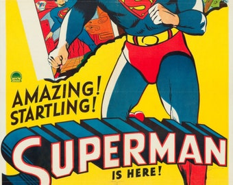 Superman reproduction poster print