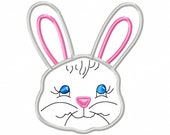 Easter Bunny - Applique - Machine Embroidery Design - 8 Sizes