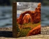 Rainbow Bridge, Glen Canyon, Southwest, Bamboo, Wall Art, Sandstone, Lake Powell, Photo block, Living room, landscape, National Monument,