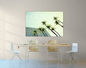 mid century modern // large art // huge canvas // palm tree art - Palms I, mid century 40x60 art on canvas