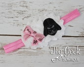 Darth Vader Headband, Girl Star Wars, Geek, Birthday, Baby, Toddler, Teen, Adult, Photo Prop