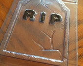 RIP Headstone Vintage Halloween Milky Way Soap Mold   - DESTASH / Clearance