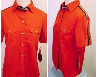 Vintage 1970s Red Army-Style Shirt - NOS - L/XL