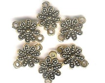 Antique Gold Bali Daisy Flower Connector-6 pieces-lead free