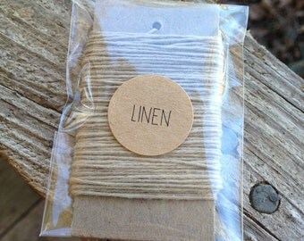 10 Yards - Solid  Baker's  Twine / String • 100% Cotton • Eco Friendly • Gift Wrap • Bakery String •  Linen