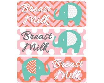 Breast Milk Labels, Baby Bottle Labels, Daycare Labels, Waterproof Name Labels, Personalized Waterproof Labels, Waterproof Labels, Elephant