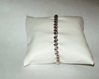 Sterling Silver Bracelet - Made in Italy Size 6 3/4