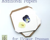 Paper and cardboard inserts for Flower Presses