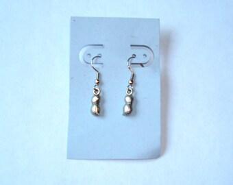 CLEARANCE!!   Silver tone Peanut Hook Earrings