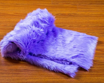 6ft by 5ft' Lilac faux fur Shaggy Throw Blanket / Bed Spread Coverlet  / Soft Ultra Suede Lining / New