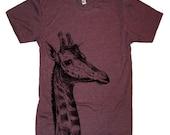 Mens GIRAFFE T Shirt - American Apparel Tshirt - xs, s, m, l, xl, and xxl