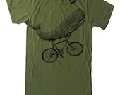 Whale on a Bike Funny Bicycle T Shirt - American Apparel Tee - S M L XL 2XL (15 Color Options)