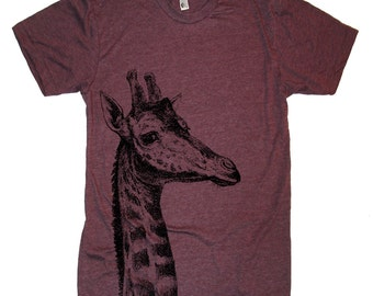 Mens GIRAFFE T Shirt - American Apparel Tshirt - xs, s, m, l, xl, and xxl