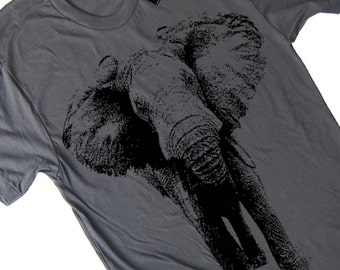 Mens Elephant T Shirt american apparel Vintage Elephant T Shirt Gifts For Him