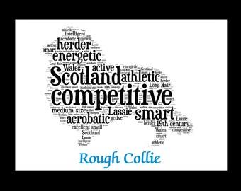 Rough Collie, Rough Collie Art, Rough Collie Artwork, Rough Collie Print, Rough Collie Lover, Rough Collie Gift