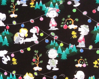 C059 - 1 meter Cotton Fabric - Christmas Tree, baby and animal145cm ,220g)