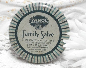 Vintage Family Salve Zanol Tin Cincinnati Ohio
