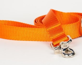 Crew LaLa™ Orange Naked Webbing Dog Leash