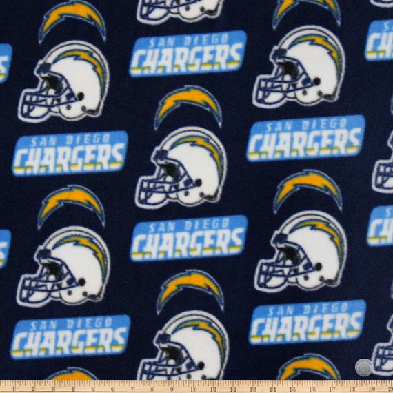 San Diego Chargers Fleece Fabric: NFL San Diego Chargers Licensed Fleece