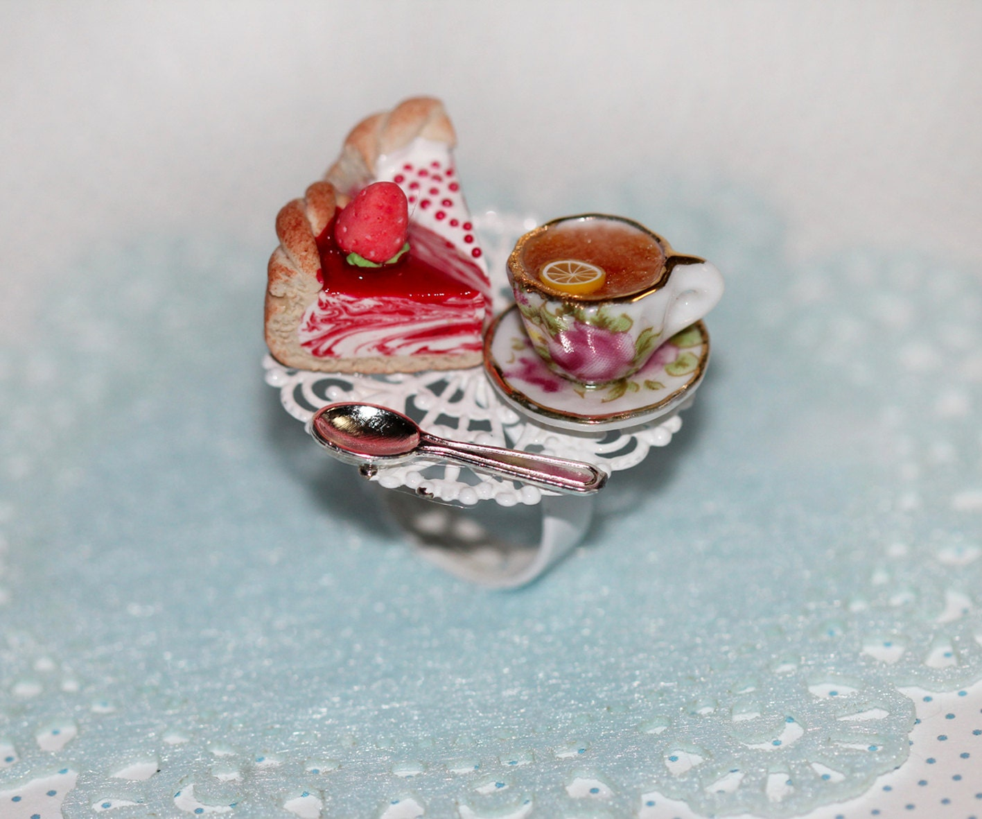 tea ring pastry ring miniature food jewelry by dleesnow
