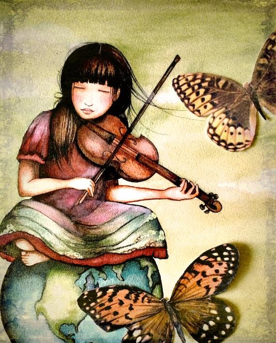 the violinist's  gift  art print