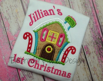 Gingerbread House - Appliqued and Personalized