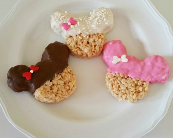 how to make mickey mouse rice krispie treats