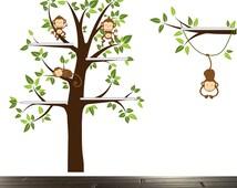 Shelf Tree decal, Tree wall stickers, bookshelf tree, vinyl wall art, tree wall decal
